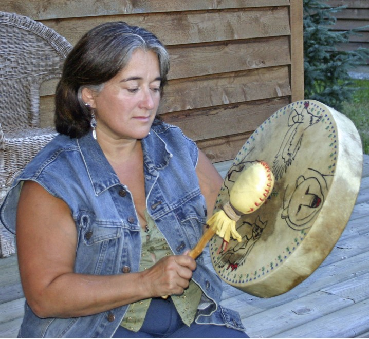 Photo of aboriginal artist and writer Louise Lefebvre